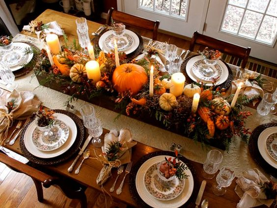 10 stunning table setting ideas for thanksgiving daily - Thanksgiving table setting ideas ...