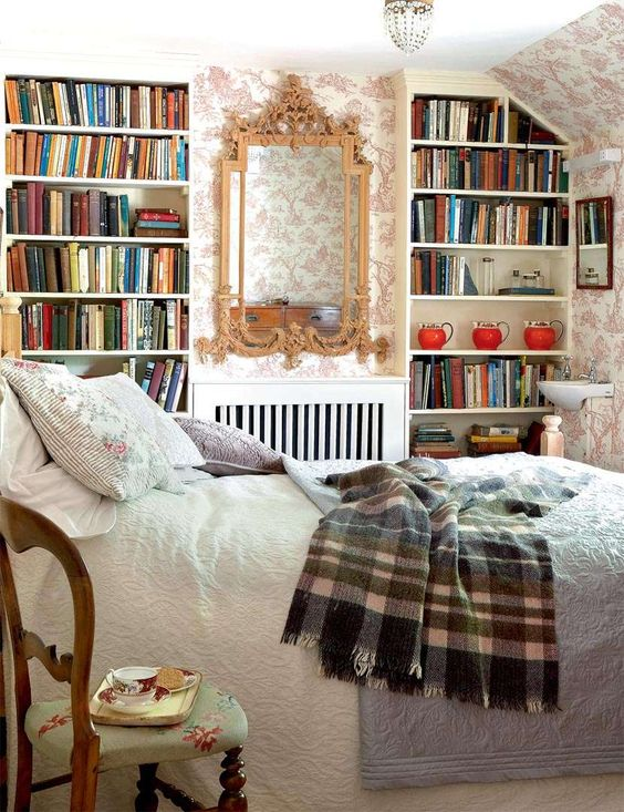bedrooms for book lovers retro delight