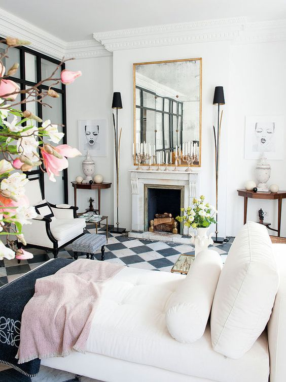 10 dreamy rooms black white tiles will instantly love