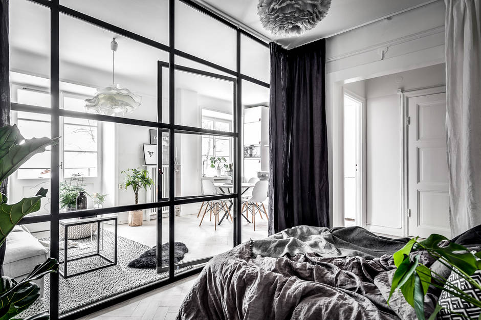 A Small Amp Dreamy Scandinavian Apartment With A Glass Wall