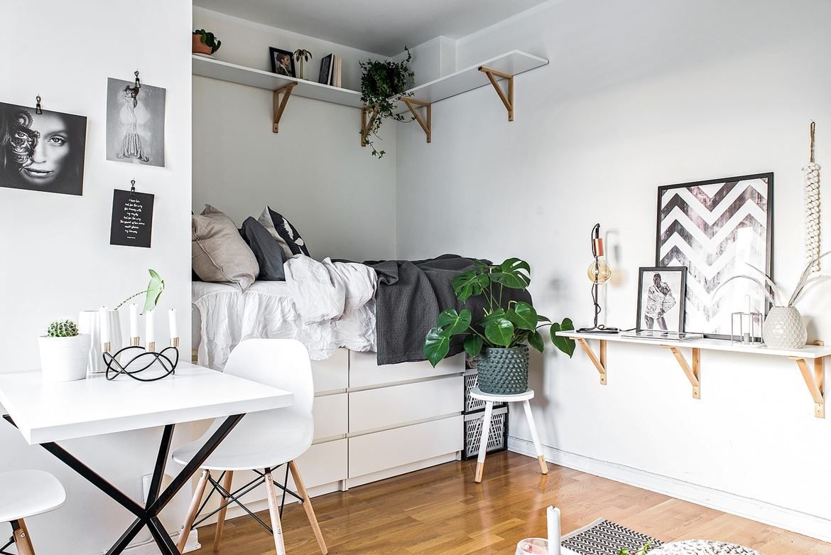 A tiny, but charming, studio apartment