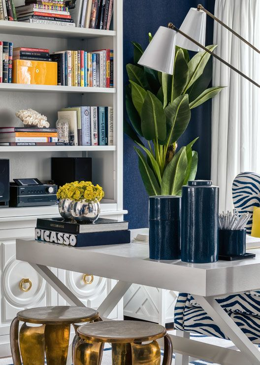 Navy And Green Gold Interior Design