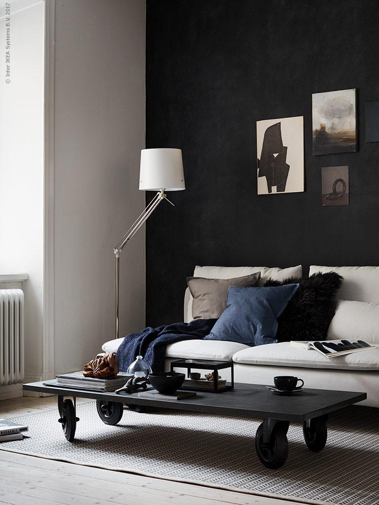 contemporary ikea living room