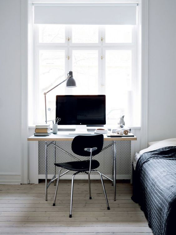 minimal home office