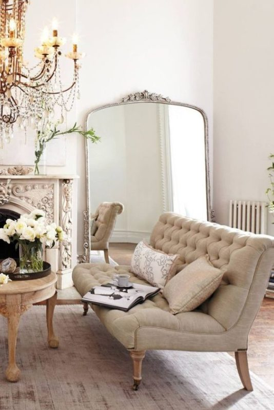 statement mirror parisian chic home