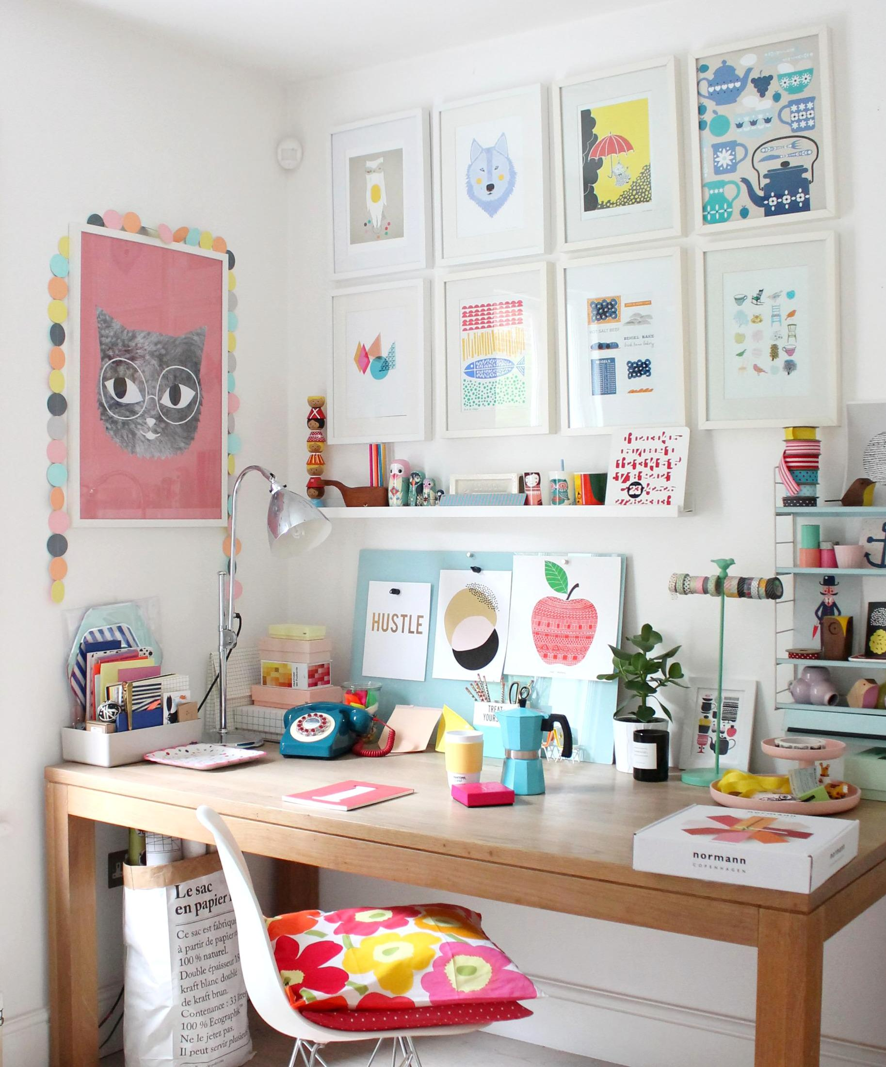 Colorful & cheerful workspace