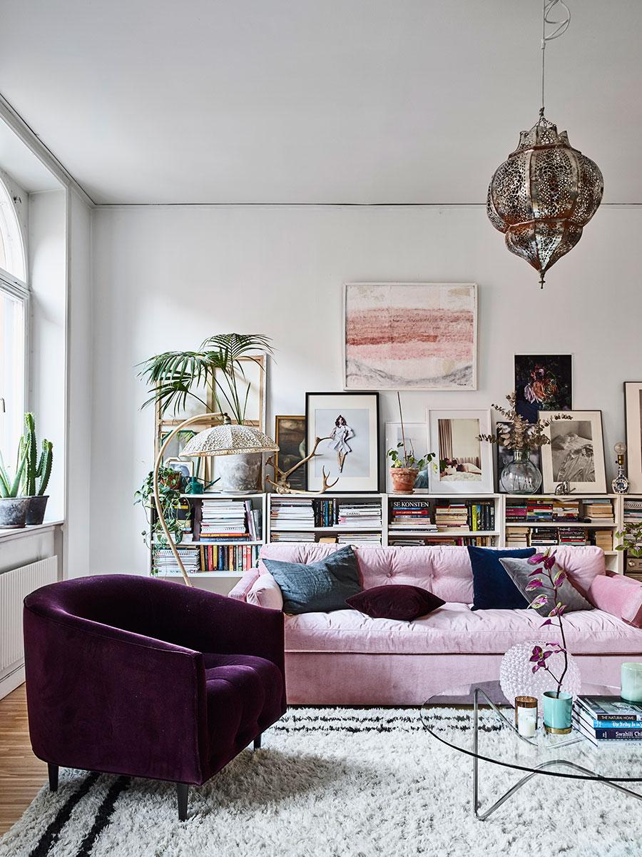 feminine eclectic home