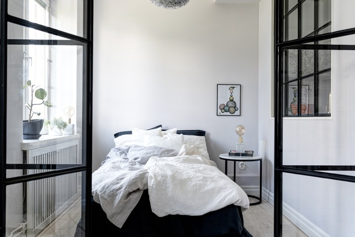 A gorgeous, small, grey space
