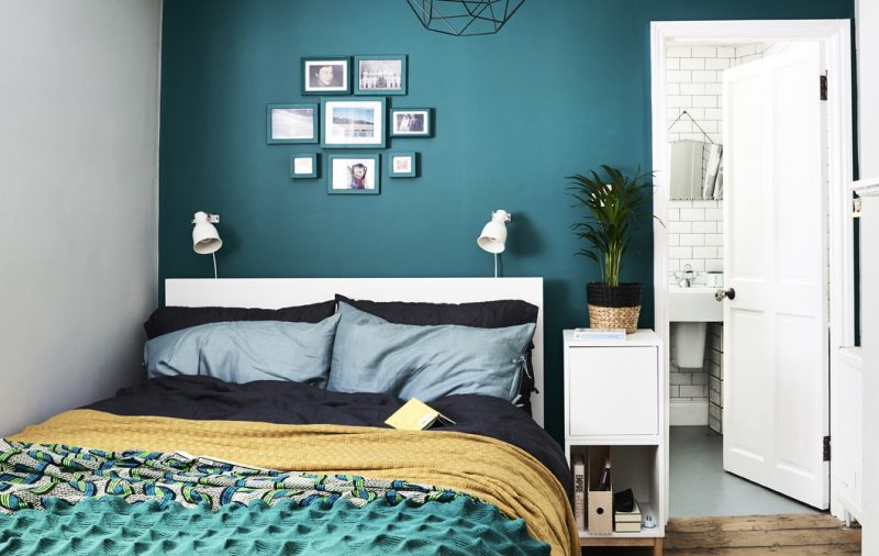 Ocean Blue That Makes You Think Of Vacation Add A Neutral Wall Next To It And Some Cute Pillows Covers In Matching Colors Such As Yellow Or Orange