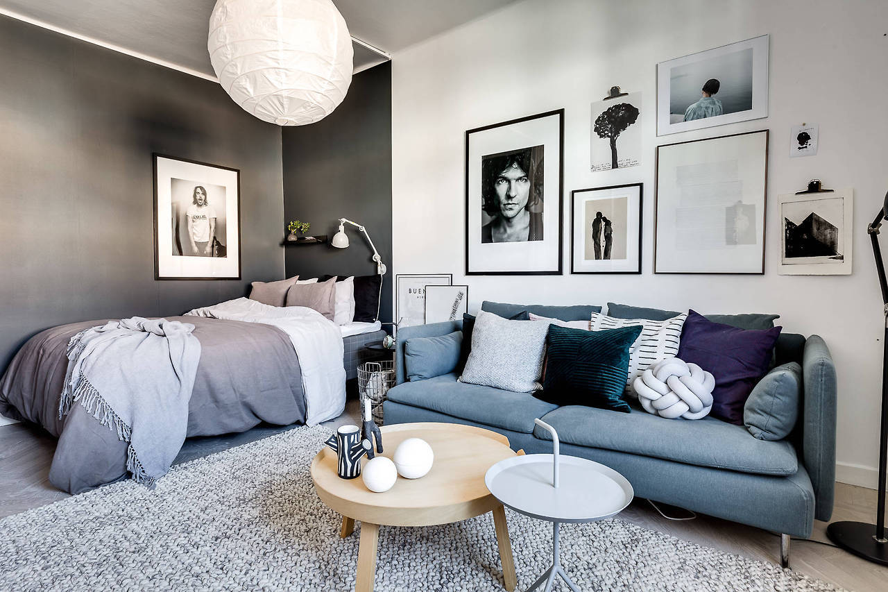 A Dreamy Scandinavian Apartment In Shades Of Blue And Grey