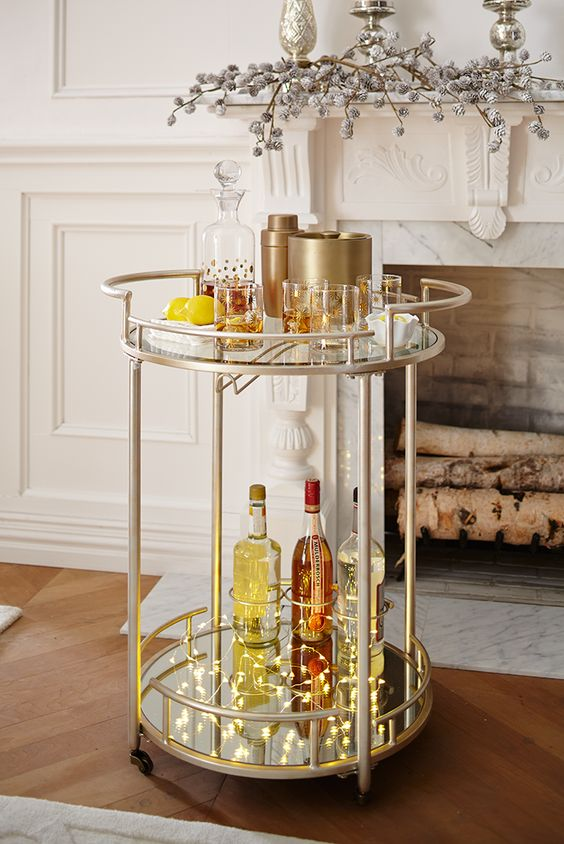 6 Stunning Bar Carts That Say Hello To The New Year