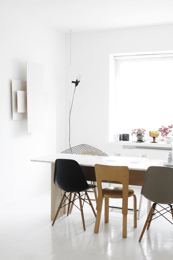 Mixed Chairs Scandi Dining Room 3