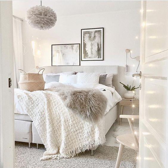 Room Decor Furniture Interior Design Idea Neutral Room: 9 Cozy Bedrooms That Will Help You Face The Winter In A