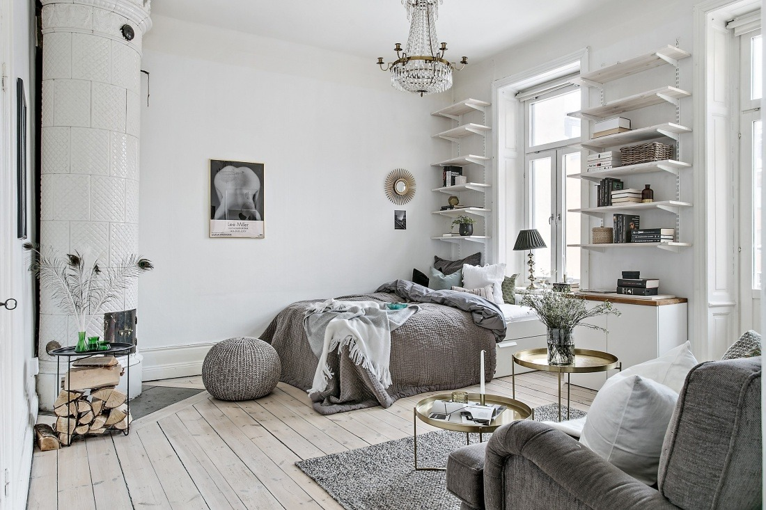 Dreamy Scandinavian Studio Apartment