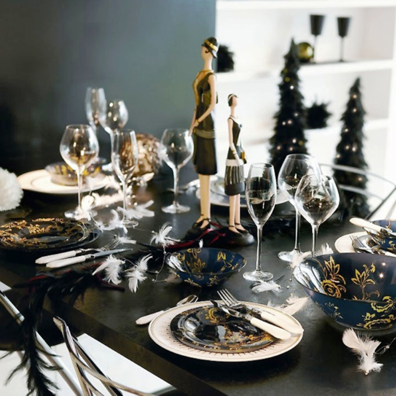 8 Table setting ideas for New Year's Eve - Daily Dream Decor