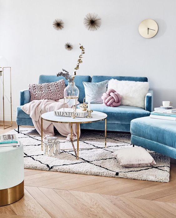 9 Light Blue Velvet Furniture Pieces That Will Make You Nostalgic Daily Dream Decor
