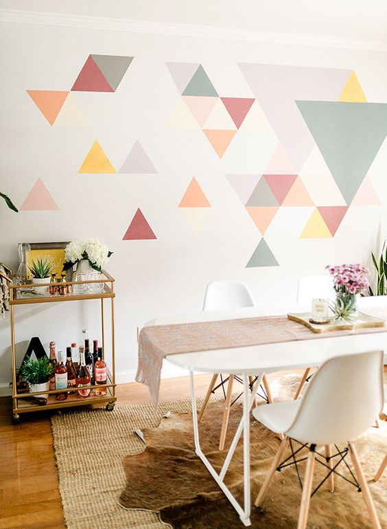 Zodiac and home decor which new trend goes with which - Geometric wall designs with paint ...