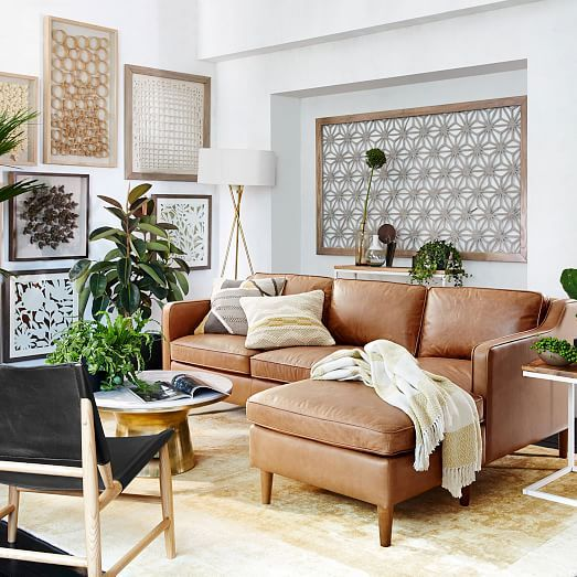 light brown leather sectional 2019