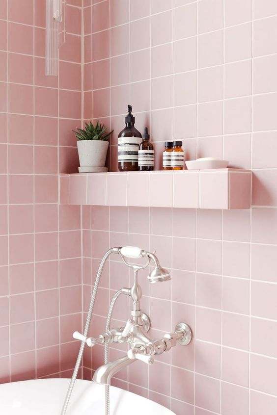 6 pink bathrooms that will make you wish for spring to