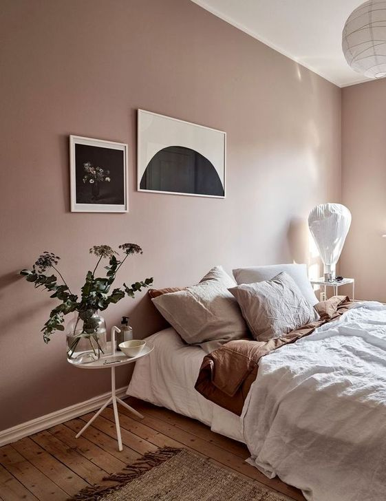 7 Pink and brown interiors - the nostalgic and calm combo ...