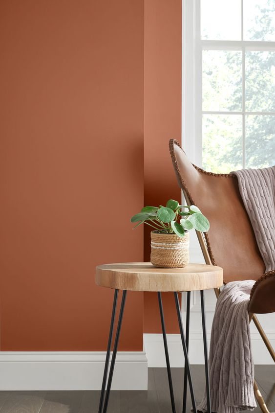 8 Dreamy interiors with Cavern Clay – The nostalgic paint color of 2019