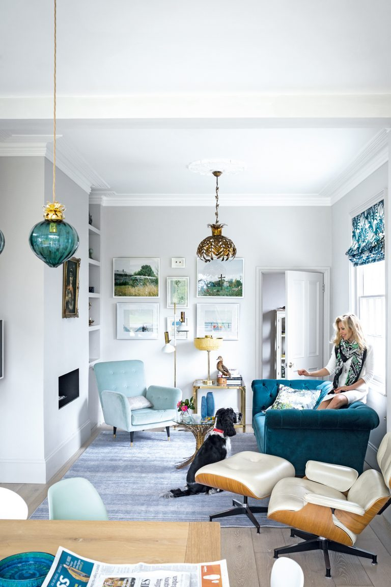 A dreamy, dreamy home with blue accents