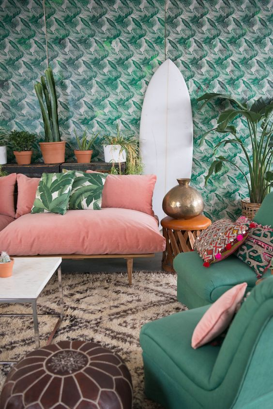 6 Interiors with tropical prints you will be smitten with this season