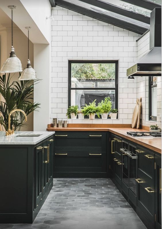 9 Gorgeous ideas for a bohemian kitchen space - Daily ... on Modern Kitchen Counter Decor  id=38324
