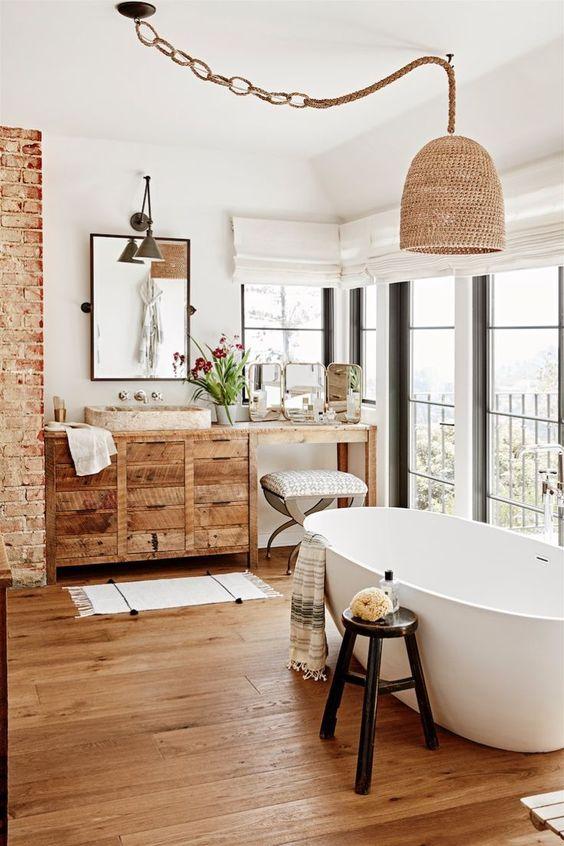 6 Stunning Wooden Floor Bathroom Ideas