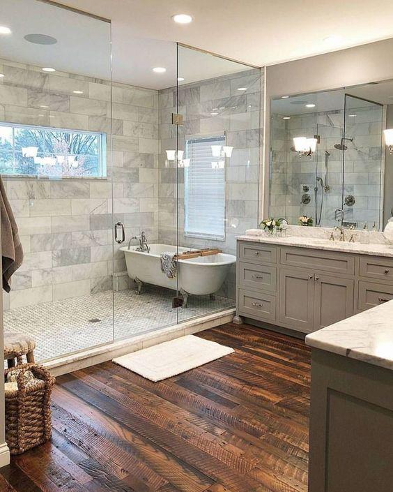 Bathroom Wood Flooring Ideas Image Of Bathroom And Closet