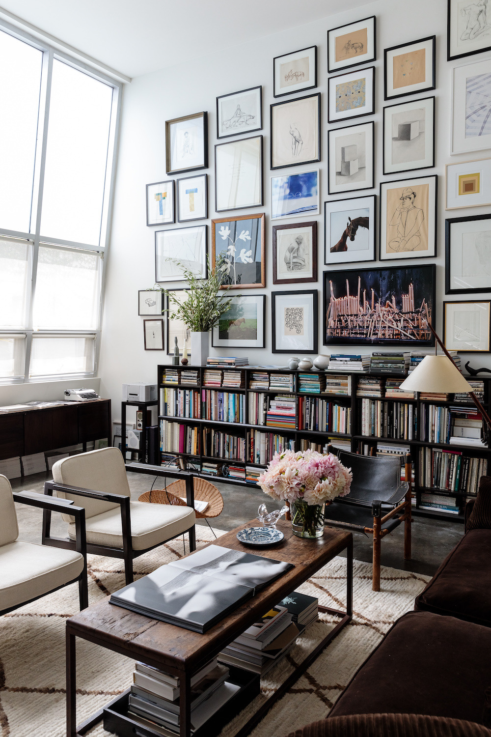 Living Room With Books: A Dreamy Living Room Filled With Books & Art