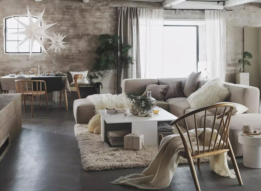 Soft and warm beige Christmas decor