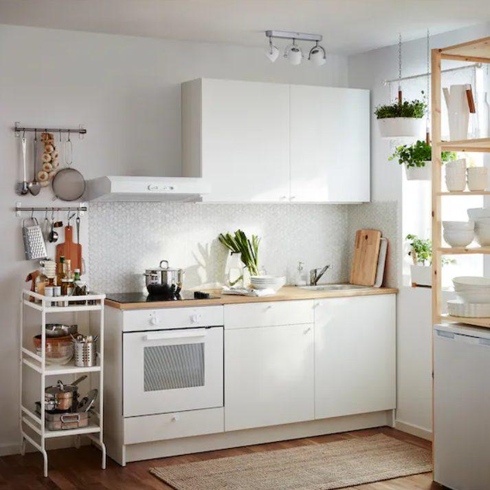 natural ikea kitchen width=
